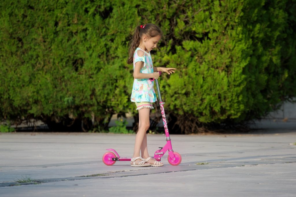 A girls scooter