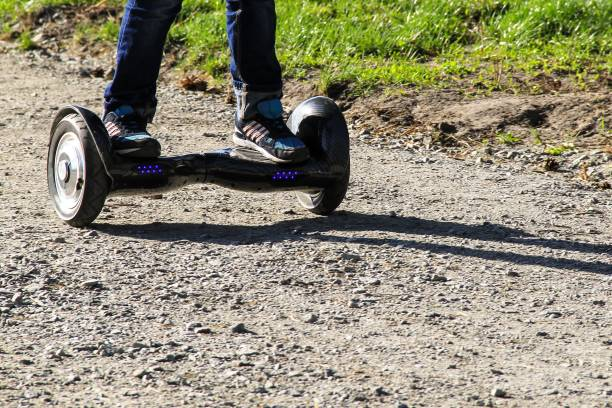 hoverboard on a rough track